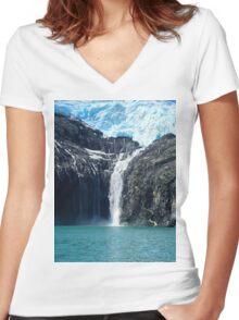 Water From Ice Women's Fitted V-Neck T-Shirt