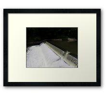 HDR Composite - Dam at low flow Framed Print