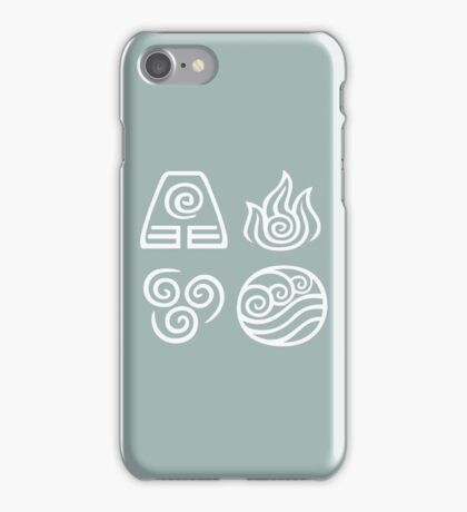 Bending All Four Elements - Blue iPhone Case/Skin