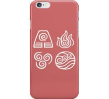 Bending All Four Elements - Red/Pink iPhone Case/Skin