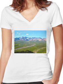 Every Color In Denali Women's Fitted V-Neck T-Shirt