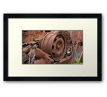 HDR Composite - Dead Car Rusting at Abandoned Farmstead 2 Framed Print
