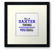It's a DAXTER thing, you wouldn't understand !! Framed Print