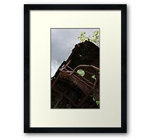 HDR Composite - Dead Car Rusting at Abandoned Farmstead 3 Framed Print