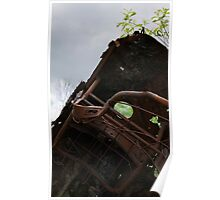 HDR Composite - Dead Car Rusting at Abandoned Farmstead 3 Poster