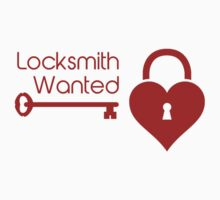 Locksmith Wanted Valentine's Day Heart Lock by TheShirtYurt