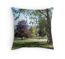 beautiful coloured trees in Burnie Park - restful place to be Throw Pillow