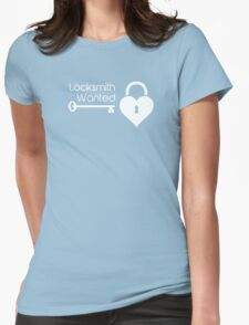 Locksmith Wanted Valentine's Day Heart Lock Womens Fitted T-Shirt