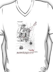 HIDDEN TREASURE MAP!   It's real! T-Shirt