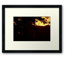 HDR Composite - Distant Telephone Pole at Night Framed Print