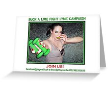 Suck a lime fight Lyme 2 (for light colors) Greeting Card