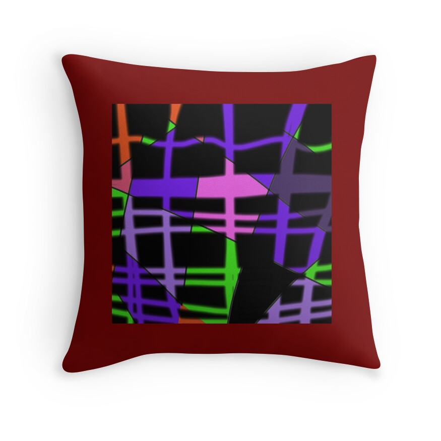 Modern Plaid Pillow :