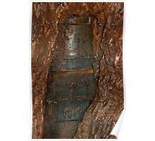 Ned Kelly Armour buried in old tree trunk Poster