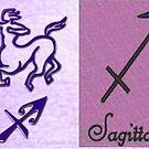 A Birth Sign Card:- Sagittarius  by Ann12art