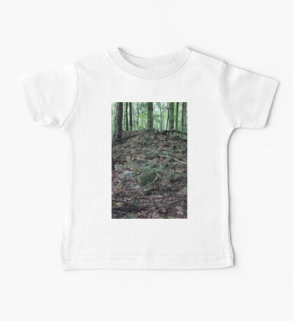 HDR Composite - Fallen Stone Wall Remains in Forest Baby Tee