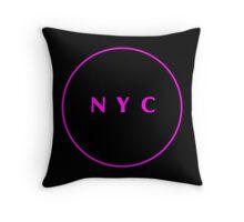 New York City Hot Pink Throw Pillow