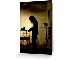 Photographer at work ~ Goulburn Brewery Greeting Card