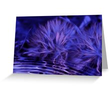 Rippled Dandelion Dreams in Violet Greeting Card