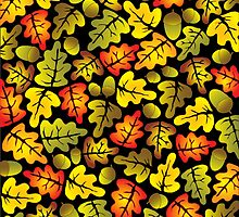 vivid oak leaves by VioDeSign
