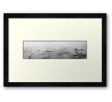 HDR Composite - Frost Whorl Texture 4 Framed Print