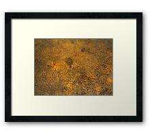 HDR Composite - Granite Rock in Light Through Tea Framed Print