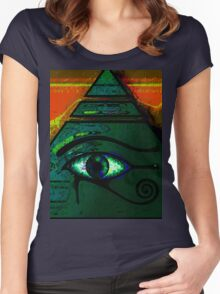 Mystical Egyptian Eye of Horus Women's Fitted Scoop T-Shirt