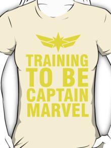 Training to be Captain Marvel Carol Danvers Carolcorps T-Shirt