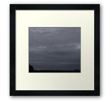 HDR Composite - High Gray Twilight Sky Framed Print