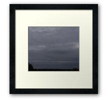 HDR Composite - High Gray Twilight Sky Framed Print