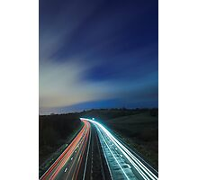 Light Trails Photographic Print