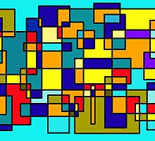 Color Blocks III by Penny Marcus