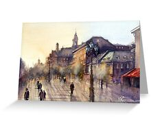 Square Jaques Cartier. Montreal. Quebec Greeting Card