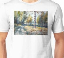 Forest road to lake. Russia Unisex T-Shirt