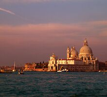 The Church of Santa Maria Della Salute soon after sunrise by Garrington