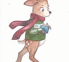 Abel the reindeer by cutiecraftings