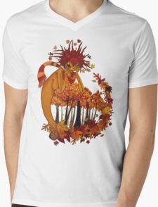 Autumn Spirit Mens V-Neck T-Shirt