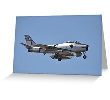 Sabre Flypast, Point Cook Airshow, Australia 2014 Greeting Card