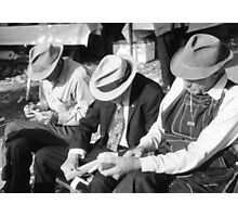 Three Old Men Photographic Print
