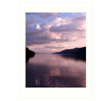 Evening on Loch Ness Art Print