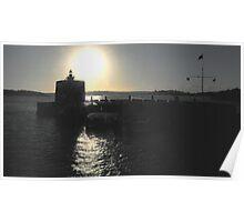 Solitary -Greeting The Sunrise- Fort Dennison, Sydney Harbour, Australia Poster