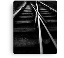 Rail Track Direction Canvas Print