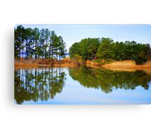 James River Reflections 1 Canvas Print
