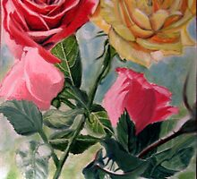 Happy and Lazy Roses by April Webb