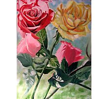 Happy and Lazy Roses Photographic Print