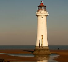 Lighthouse at New Brighton by Bev Evans