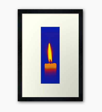 Coloured Candle Framed Print