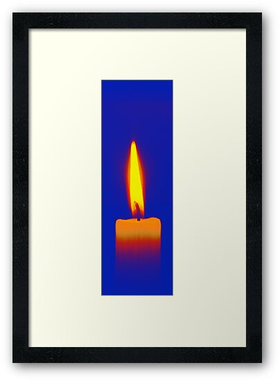 Coloured Candle by Andrew Dunwoody