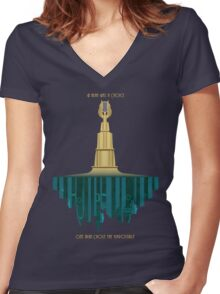 Bioshock Faux Movie Poster Women's Fitted V-Neck T-Shirt