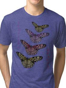 Timeless Beauty - Paper Kite Butterflies - NZ Tri-blend T-Shirt