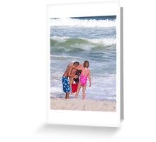 Combing The Beach Greeting Card